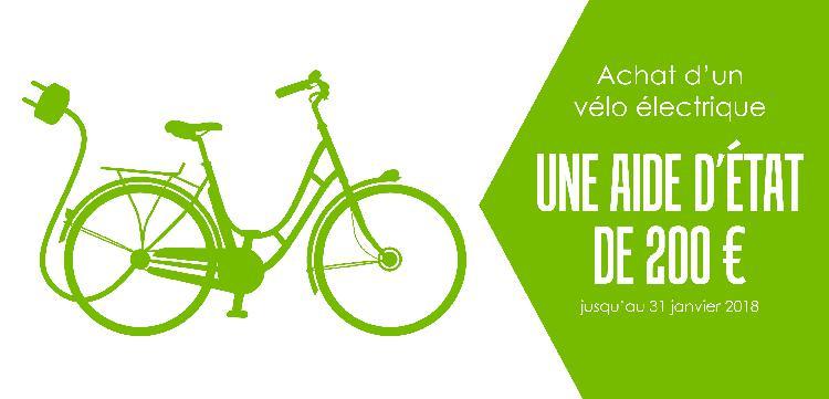 Une aide de l'état à l'acquisition d'un vélo électrique !