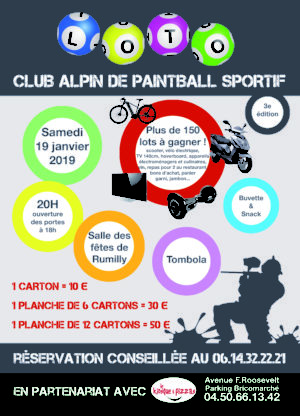 Loto du Club de Paintball de Rumilly