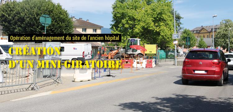 Un mini-giratoire rue de l'Annexion pour mieux sortir du centre historique