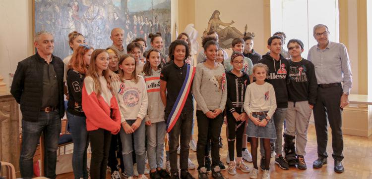 La nouvelle équipe du conseil municipal des jeunes