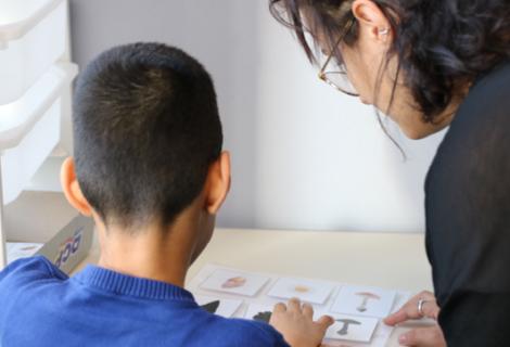 Une classe adaptée aux enfants porteurs d'un handicap