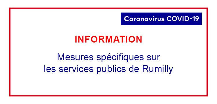 Mesures spécifiques sur les services publics