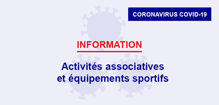 Confinement : activités associatives et équipements sportifs