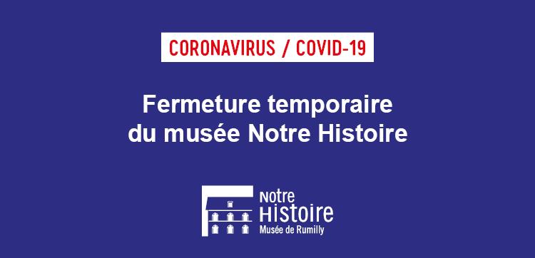 Fermeture temporaire du musée