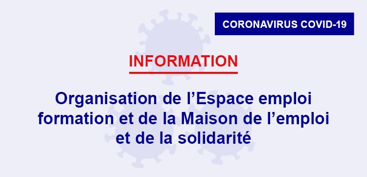 Organisation de l'Espace emploi formation et de la Maison de l'emploi et de la solidarité