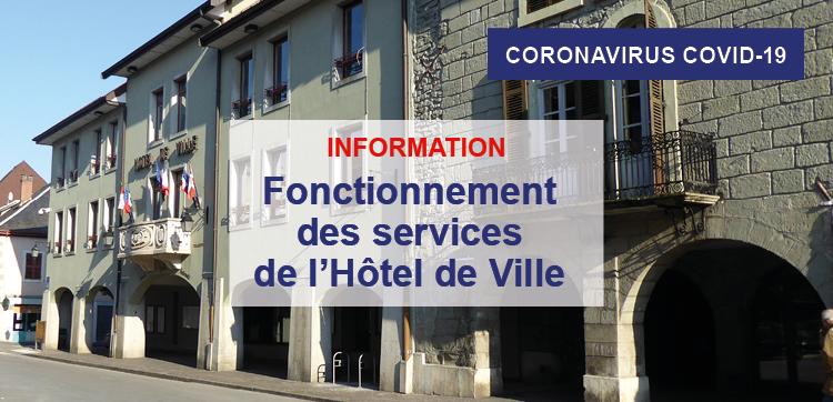 Fonctionnement des services de l'Hôtel de Ville