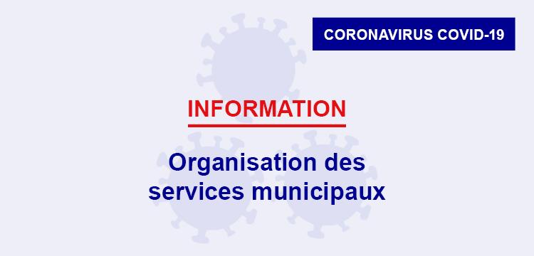 Confinement : organisation des services municipaux
