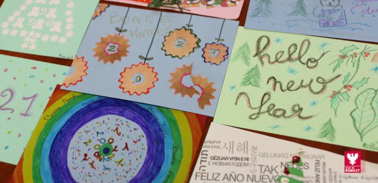Le CMJ envoi ses cartes de vœux à la Résidence Beaufort