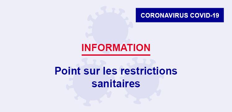 Nouvelles restrictions sanitaires