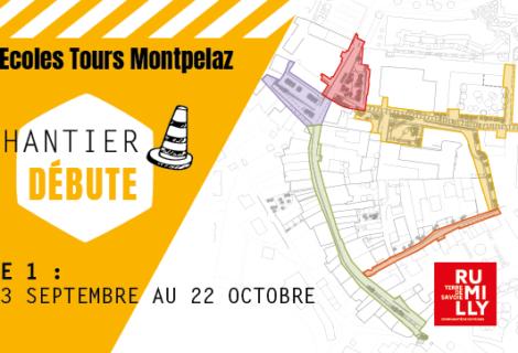 Ecoles / Tours / Montpelaz : les travaux commencent